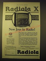 1924 RCA Radiola X Radio Ad - New Joys in Radio