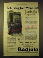 1924 RCA Radiola Super-VIII Radio Ad - Achieving new wonders!