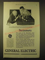 1924 General Electric Ad - Thomas A. Edison and Charles P. Steinmetz