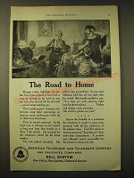 1924 AT&T Bell System Ad - The road to home