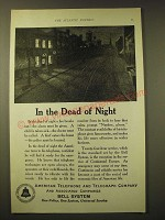 1924 AT&T Bell System Ad - In the dead of night