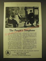 1924 AT&T Bell System Ad - The people's telephone