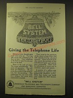 1924 AT&T Bell System Ad - Giving the telephone life