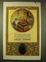 1924 Lucky Strike Cigarettes Ad - To smoke Lucky Strike for a change