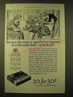 1924 Pall Mall Cigarettes Ad - For you who want a superlative cigarette
