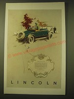 1924 Lincoln Car Ad - Precision