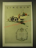 1924 Lincoln Car Ad