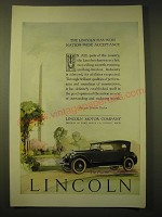 1924 Lincoln Phaeton Car Ad - The Lincoln has won nation-wide acceptance