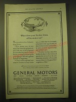 1924 General Motors Ad - What does your banker think of the motor car?