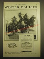 1924 Royal Mail Steam Packet Co. Ad - Winter Cruises
