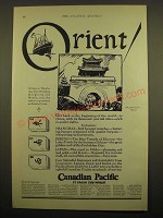 1924 Canadian Pacific Cruise Ad - Orient