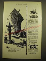 1924 Canadian Pacific Cruise Ad - The travel in Orient