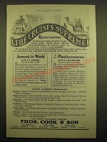 1924 Thos. Cook & Son Cruise Ad - The cruises supreme