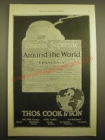 1924 Thos. Cook & Son Cruise Ad - Cruises Supreme 1925 around the world