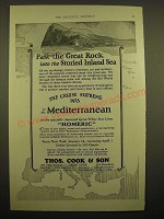 1924 Thos. Cook & Son Cruise Ad - Past the great rock into the storied inland