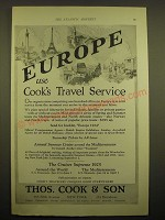 1924 Thos. Cook & Son Cruise Ad - Europe use Cook's travel service