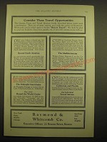 1924 Raymond & Whitcomb Co. Ad - Consider these travel opportunities