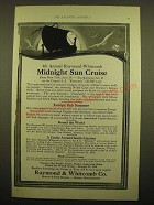 1924 Raymond & Whitcomb Co. Ad - 4th Annual Raymond-Whitcomb midnight sun cruise