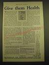 1924 Metropolitan Life Insurance Ad - Give them health