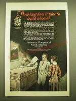 1924 Insurance Company of North America Ad - How long does it take to build