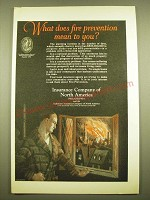 1924 Insurance Company of North America Ad - What does fire prevention mean