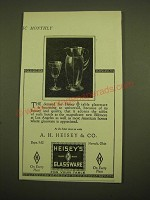 1924 Heisey's Glassware Ad - A.H. Heisey & Co.