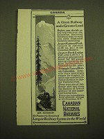 1924 Canadian National Railways Ad - A great railway and a greater land