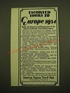 1924 American Express Travel Dept. Ad - Escorted tours to Europe 1924