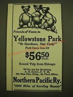1924 Northern Pacific Railway Ad - Friends of yours in Yellowstone Park