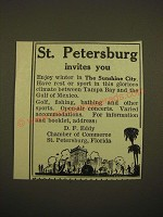 1924 St. Petersburg, Florida Chamber of Commerce Ad - St. Petersburg invites you