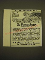 1924 St. Petersburg, Florida Chamber of Commerce Ad - Come! Where the busy sun