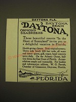 1924 Daytona Beach Florida Ad - Daytona Ormand Seabreeze