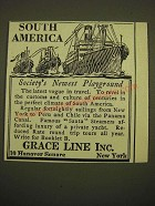 1924 Grace Line Ad - South America Society's newest playground