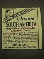 1924 Grace Line Cruise Ad - Around South America independent or personally