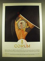 1990 Corum Watches Ad (in German) - Corum