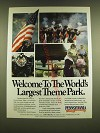 1990 Pennsylvania Tourism Ad - Welcome to the World's largest theme park