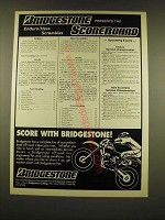 1990 Bridgestone Motorcycle Tires Ad - Bridgestone presents the Enduro/Hare