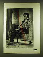1990 Vitra Chairs Ad - Photo of Miles Davis by Christian Coigny