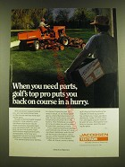 1990 Jacobsen Parts Ad - When you need parts, golf's top pro puts you back