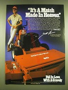 1990 Gravely 18-H Mower Ad - It's a match made in heaven