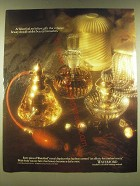 1990 Waterford Crystal Ad - At Waterford, we believe gifts that enhance beauty