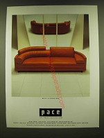 1990 Pace Molto + Di Seating Series Sofa Ad