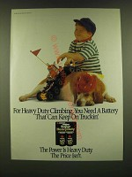 1990 Eveready Super Heavy Duty Batteries Ad - For Heavy Duty Climbing