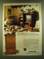 1990 Thomasville Collector's Cherry Entertainment Centers Ad