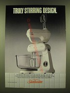 1990 Sunbeam Mixmaster Mixers Ad - Truly stirring design