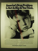 1990 Partnership for a Drug-Free America Ad - America's drug problem not as big