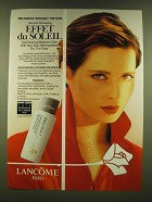 1990 Lancome Effet du Soleil Ad - Tan safely without the sun