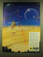 1990 Agip Oil Company Ad - Wherever it is, we'll find it