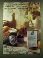 1990 Smucker's Simply Fruit Blueberry Spreadable Fruit Ad