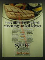 1990 Red Lobster Restaurant Ad - Every night there's a fresh reason to go to